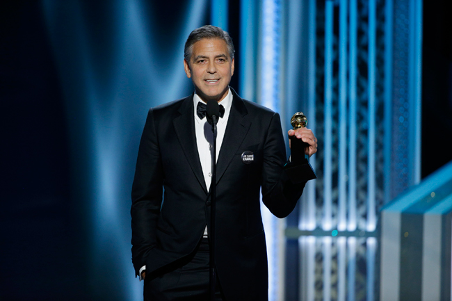 George Clooney en los Golden Globes 2015