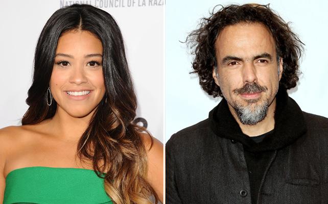Gina Rodríguez y Alejandro González Iñarritu