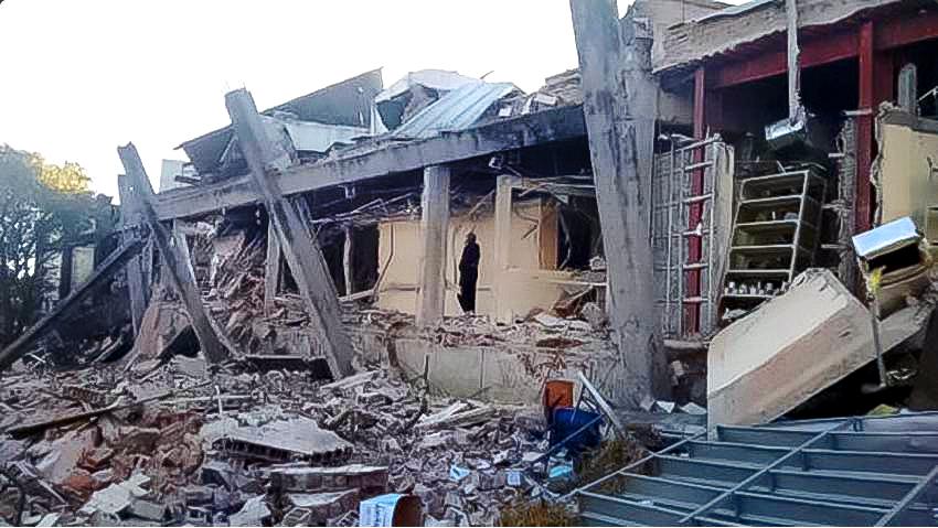 Explosión en el Hospital Materno Infantil de Cuajimalpa