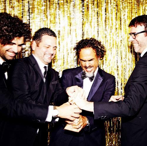 Armando Bo, Alexander Dinelaris, Alejandro González Iñárritu, Nicolás Giacobone, Globos de Oro 2015