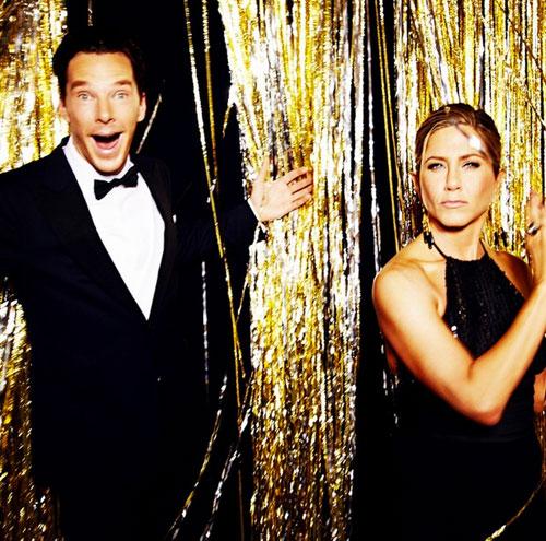 Benedict Cumberbatch, Jennifer Aniston, Globos de Oro 2015