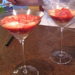 Fresas flambeadas en vodka