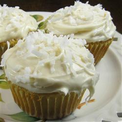 Cupcakes de vanilla con coco