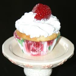 Cupcakes de miel con fresas