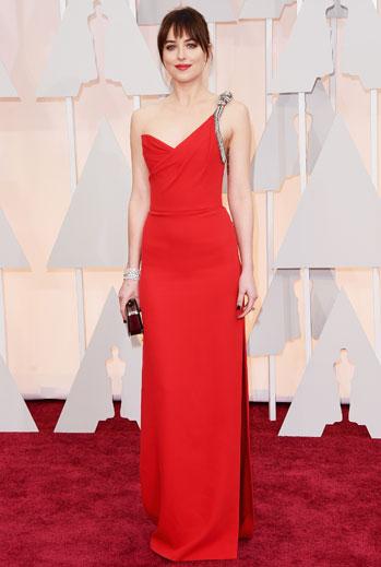 Premios Oscar 2015, alfombra roja, Dakota Johnson