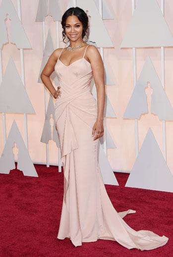 Premios Oscar 2015, alfombra roja, Zoe Saldana