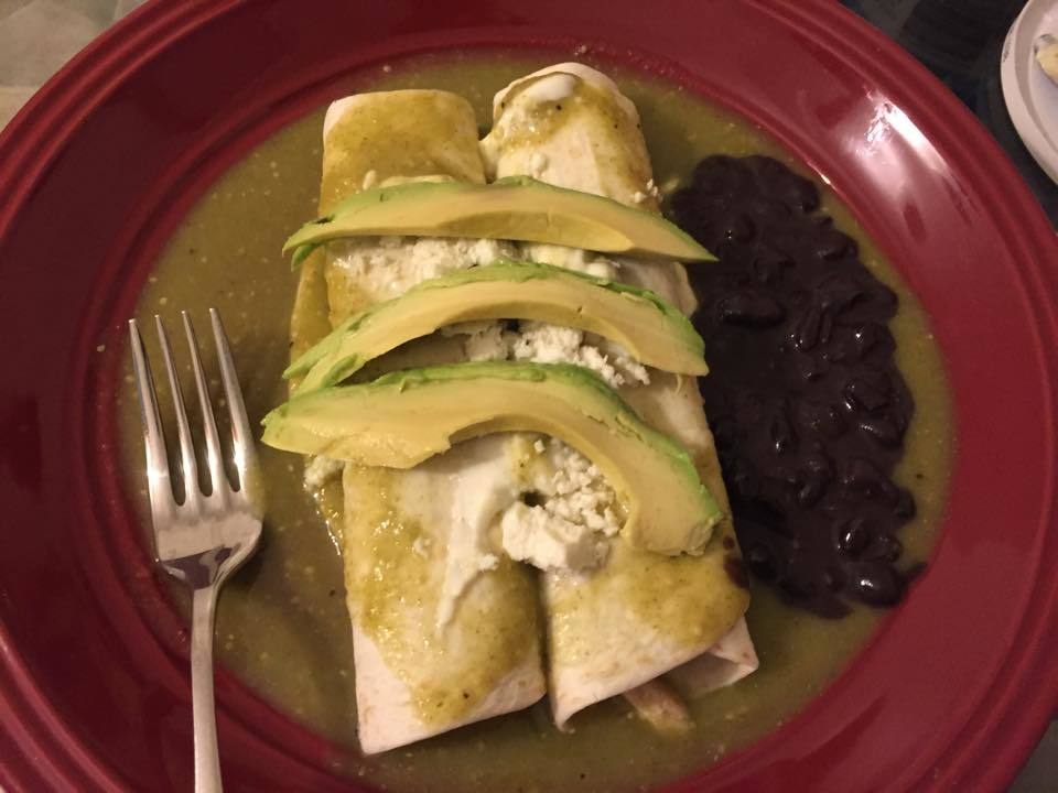 Enchiladas verdes light