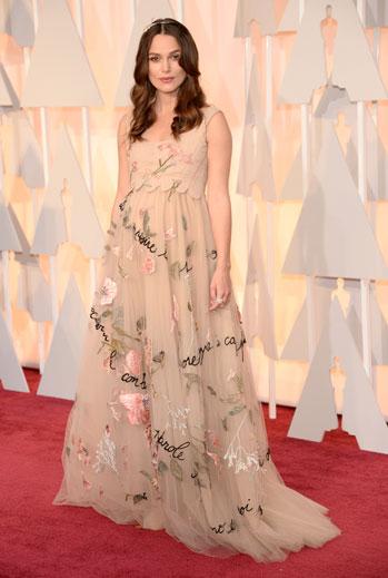 Premios Oscar 2015, alfombra roja, Keira Knightley