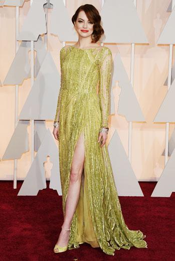 Premios Oscar 2015, alfombra roja, Emma Stone