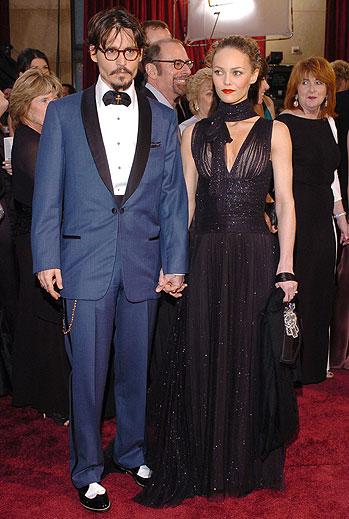 Johnny Depp, Vanessa Paradis, Desastres en la alfombra