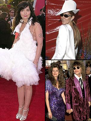 Bjork, Celine Dion, Jon Bon Jovi
