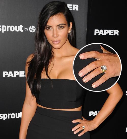 Kim Kardashian, anillo compromiso