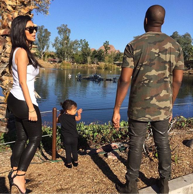 Kim Kardashian, North y Kanye West