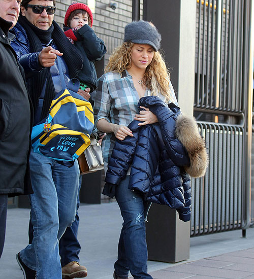 Shakira, Tonino Mebarak y Milan Piqué