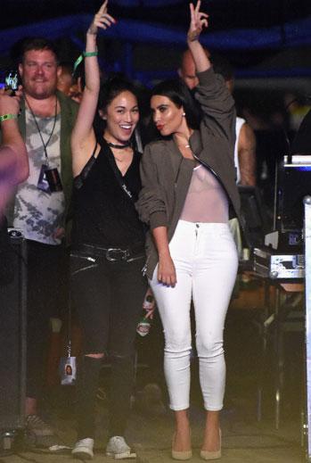 Looks de festival, musica, 2015, Kim Kardashian
