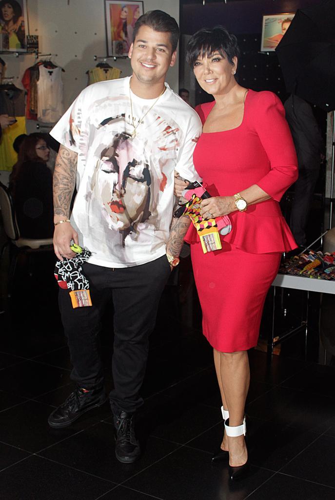 Rob Kardashian y Kris Jenner