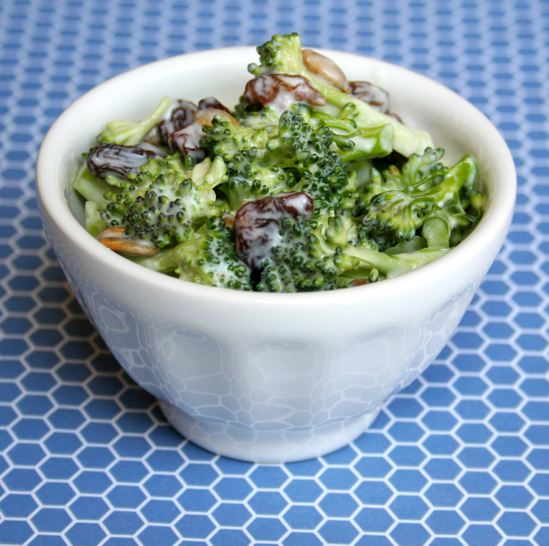Ensalada de girasol con brócoli