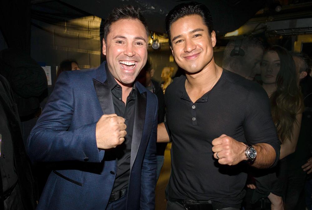 Oscar De La Hoya y Mario López