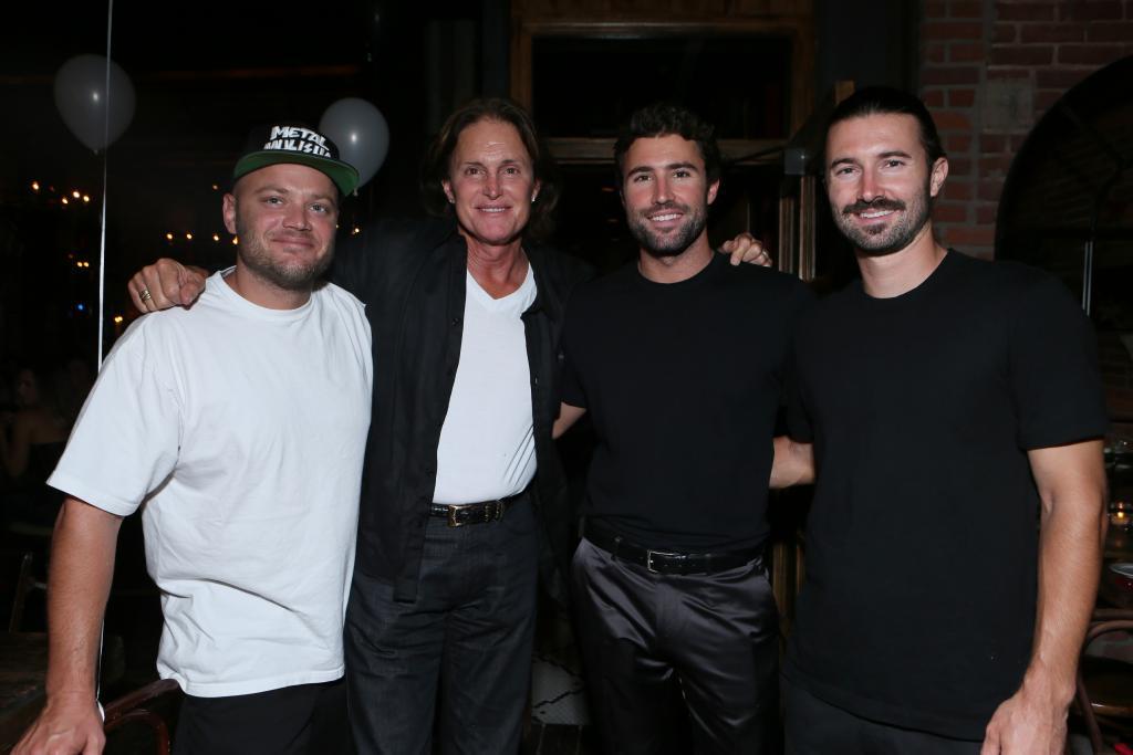 Burt, Bruce, Brody y Brandon Jenner
