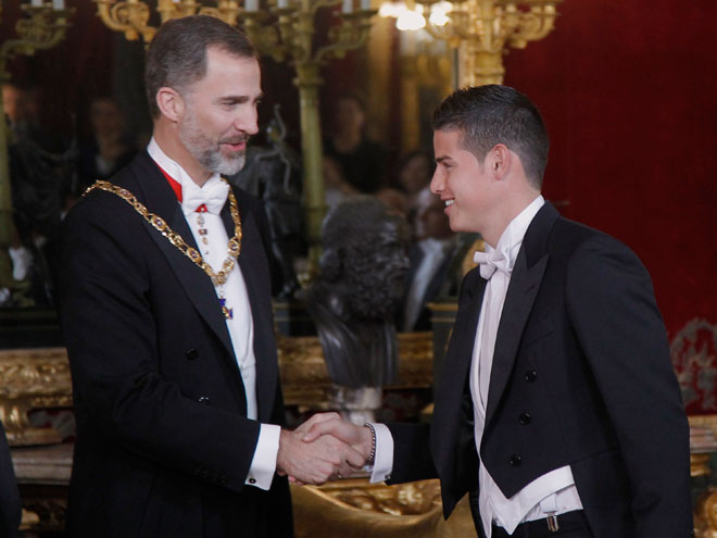 Felipe IV y James Rodríguez
