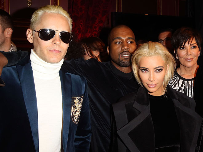 Jared Leto y Kim Kardashian
