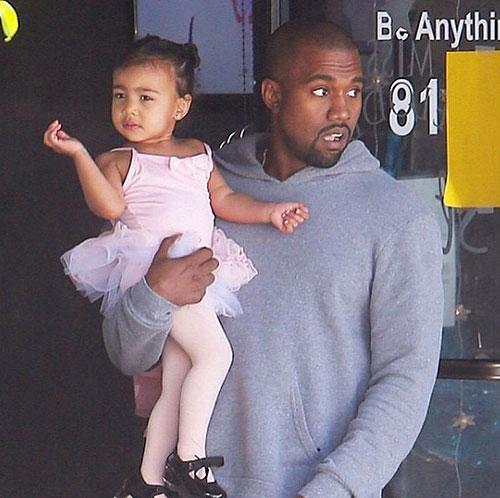 Bebes famosos en Instagram, Kanye West, Kim Kardashian