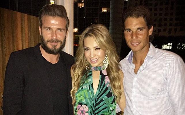 David Beckham, Thalía y Rafa Nadal