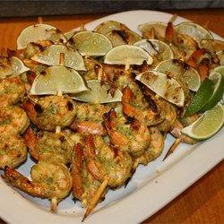 Camarones en salsa de coco con chile
