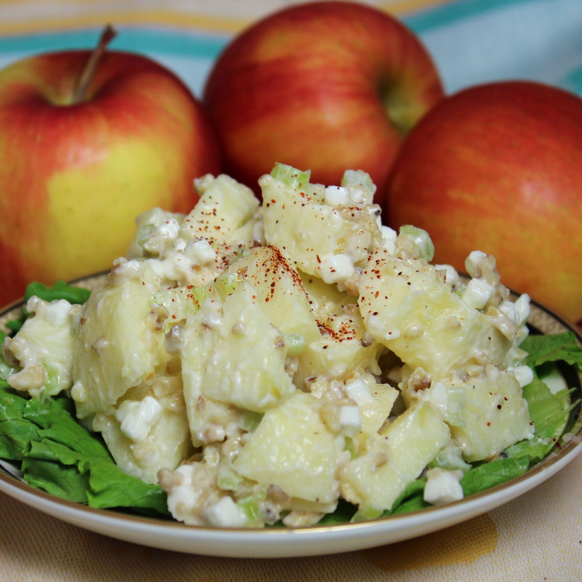 Ensalada de manzana con requesón