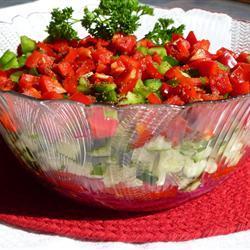 Ensalada de verduras agridulces