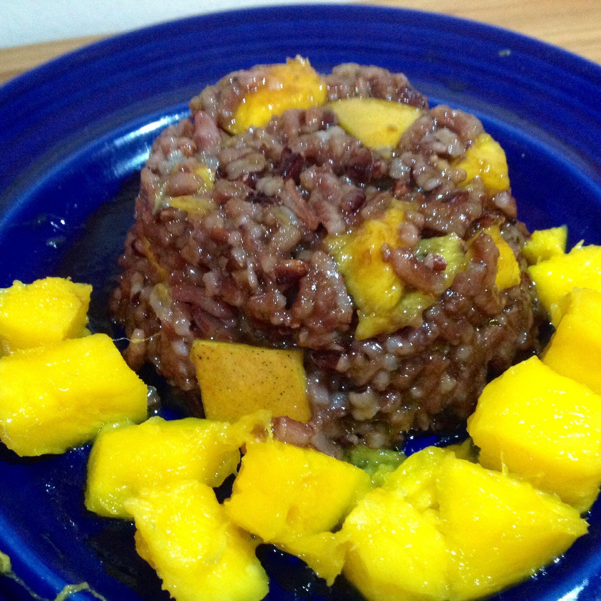 Ensalada arroz con mango