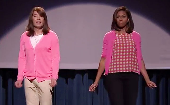 Jimmy Fallon y Michelle Obama