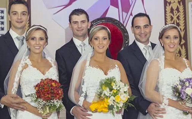 Trillizas se casan