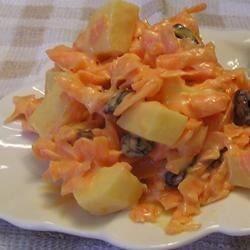 Ensalada de zanahoria con pasas
