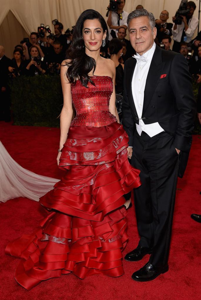 Amal Clooney y George Clooney para artículo
