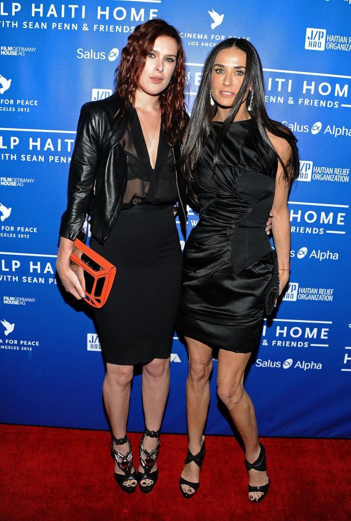 Rumer Willis y Demi Moore para artículo