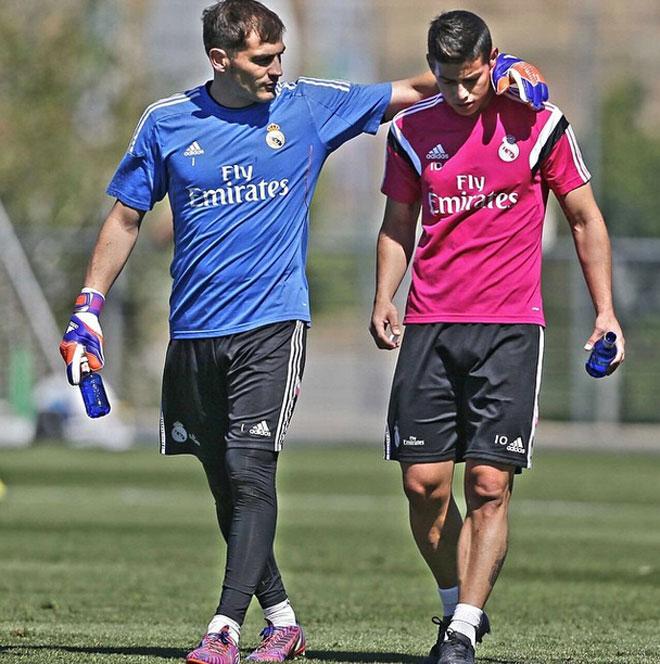 Iker Casillas, James Rodríguez