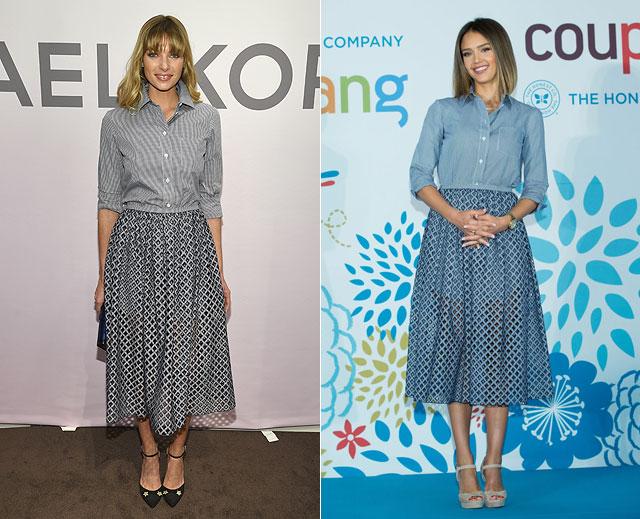 Dos mujeres, un vestido, Jessica Hart, Jessica Alba