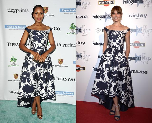 Dos mujeres un vestido kerry washington michelle jenner