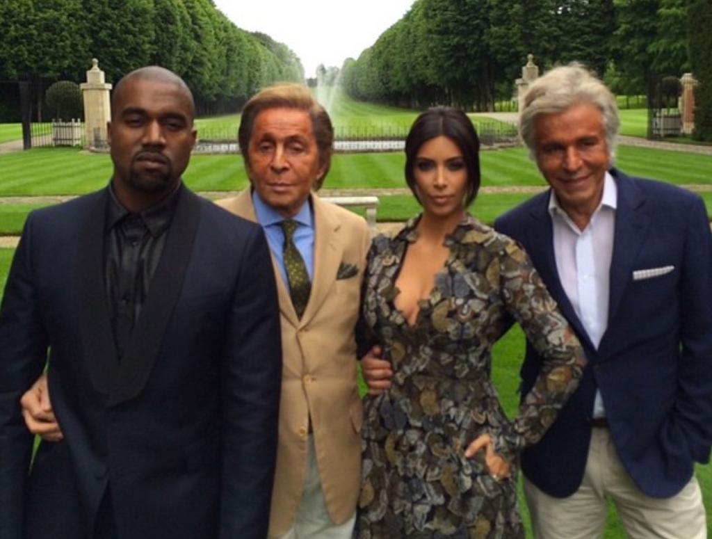 Kanye West, Valentino Garavani, Kim Kardashian, Giancarlo Giammetti