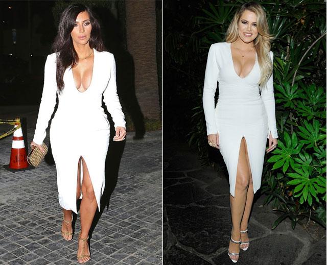 Dos mujeres un vestido kim khloe kardashian