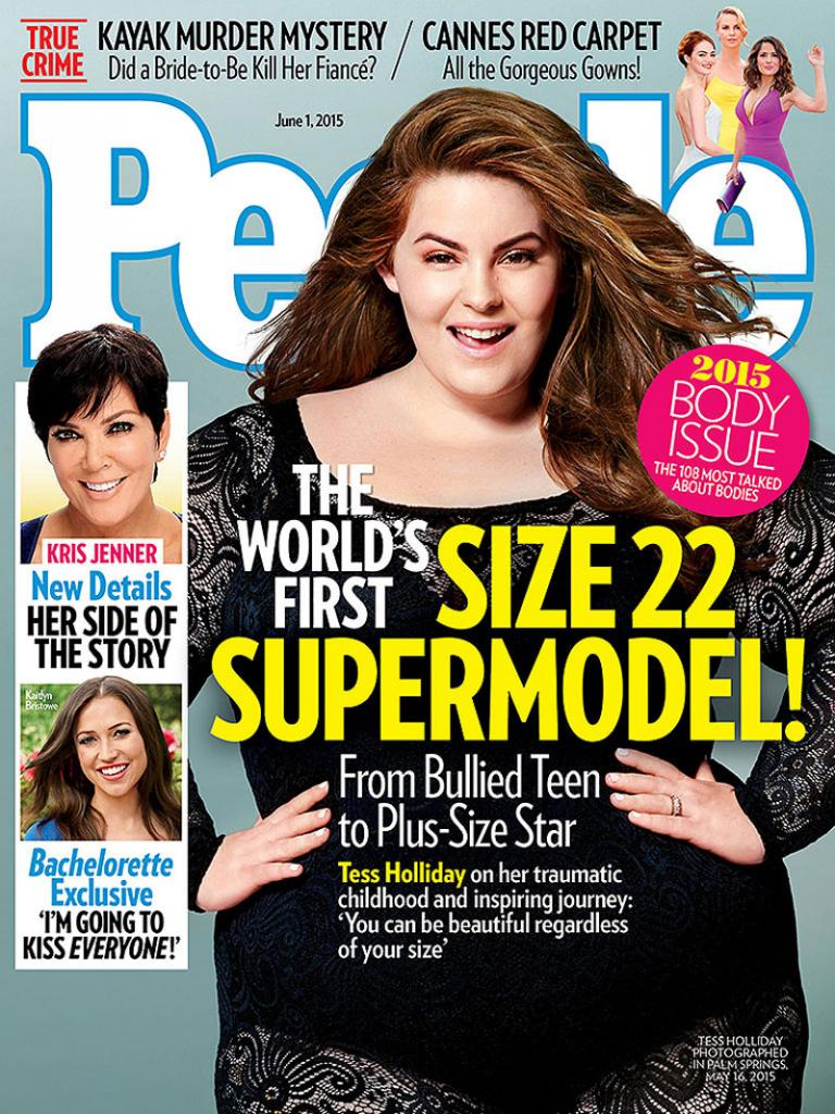 Tess Holliday, modelo talla grande, portada de People