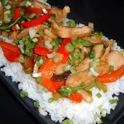 Chop suey con lomo de cerdo