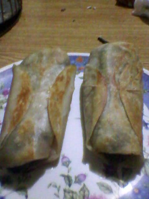 Burritos de chile poblano
