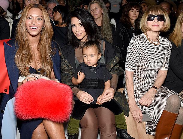 Beyoncé, Kim Kardashian, North West, Anna Wintour, Míralos