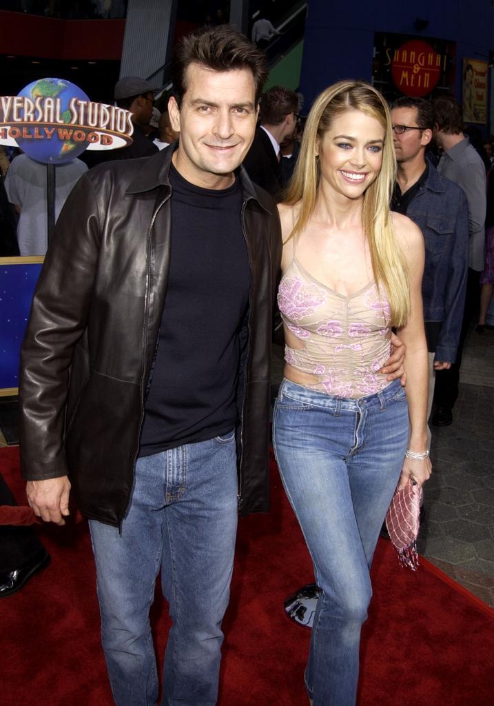 Charlie Sheen y Denise Richards