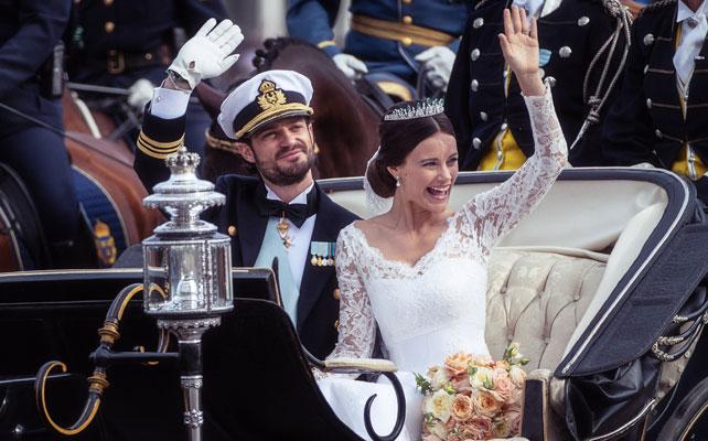 El príncipe Carl Philip y la princesa Sofía