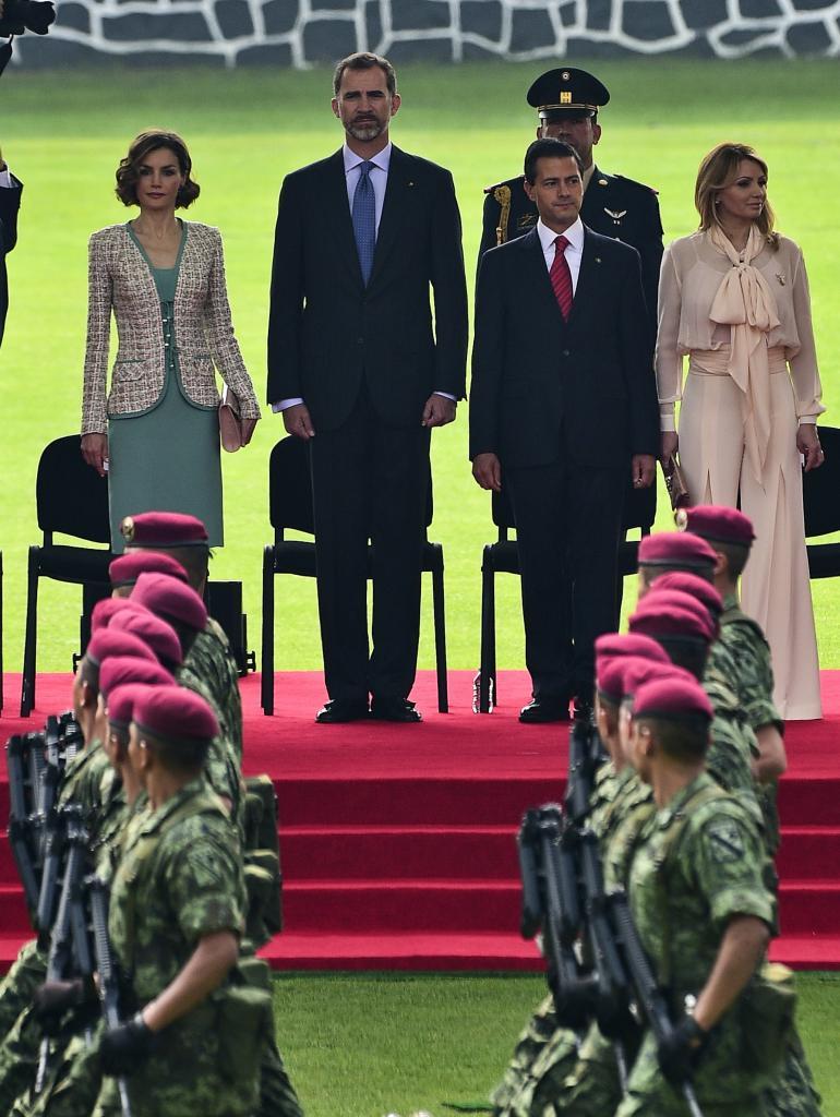 Reyes de España en su visita a México