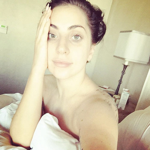 Lady Gaga, sin maquillaje