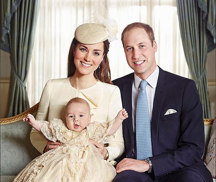 Bautizo real, príncipe George